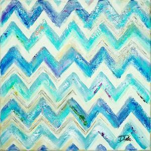Blue Zig Zag by Patricia Pinto