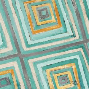 Coastal Ikat with Gold II by Patricia Pinto