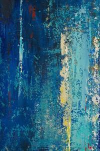 Deep Blue Abstract by Patricia Pinto