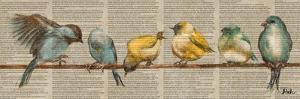 Gleeful Newsprint II by Patricia Pinto