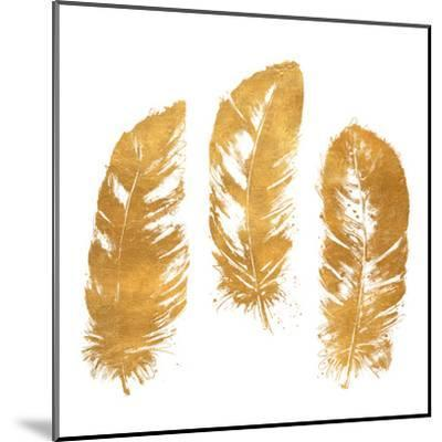 Gold Feather Square (gold foil)