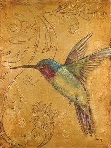Golden Hummingbird II by Patricia Pinto