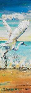 Great Egret Panel I by Patricia Pinto