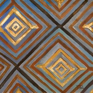 Ikat and Pattern with Gold by Patricia Pinto
