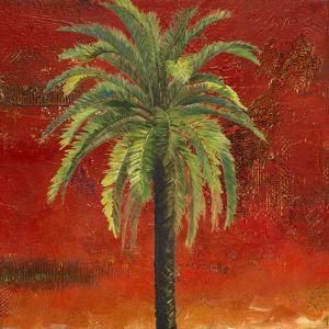 La Palma on Red III by Patricia Pinto