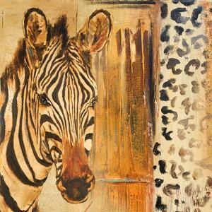 New Safari on Gold Square I by Patricia Pinto