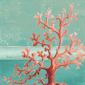 Teal Coral Reef I by Patricia Pinto