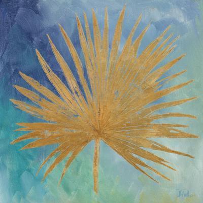 Teal Gold Leaf Palm I