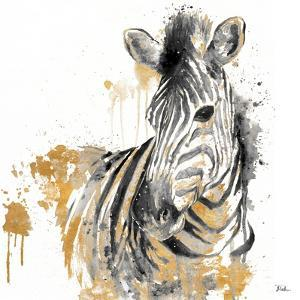 Water Zebra with Gold by Patricia Pinto