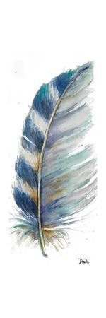 Watercolor Feather White V