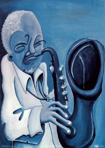 Blue Jazzman II by Patrick Daughton