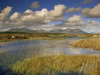 Ballynahinch and the Twelve Pins, Connemara, County Galway, Connacht, Republic of Ireland by Patrick Dieudonne
