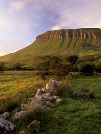Benbulben at Sunset, Approximately 500M, Near Sligo, County Sligo, Connacht, Republic of Ireland by Patrick Dieudonne