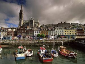 Cobh Harbour and St. Colman's Cathedral, Cobh, County Cork, Munster, Republic of Ireland by Patrick Dieudonne