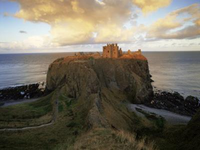 Dunnottar Castle, Dating from the 14th Century, at Sunset, Aberdeenshire, Scotland, United Kingdom by Patrick Dieudonne
