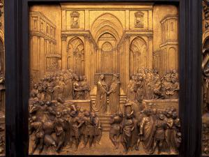 East Door of the Baptistery Near the Duomo, Florence, Tuscany, Italy by Patrick Dieudonne