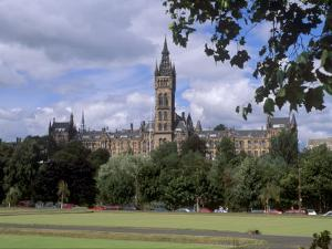 Glasgow University Dating from the Mid-19th Century, Glasgow, Scotland, United Kingdom, Europe by Patrick Dieudonne