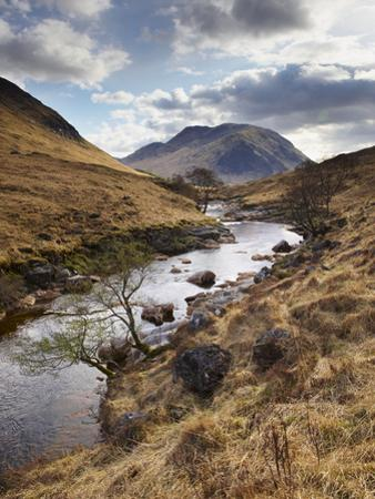Glen Etive, Near Glen Coe (Glencoe), Highland Region, Scotland, United Kingdom, Europe by Patrick Dieudonne