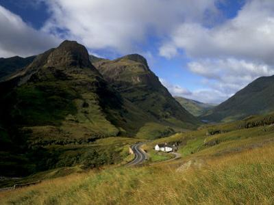House in Glencoe Pass, Site of the Massacre of Glencoe, Highland Region, Scotland, UK by Patrick Dieudonne