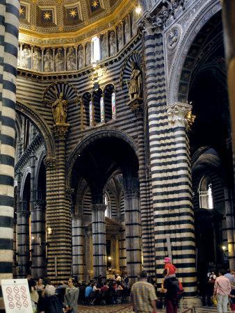 Interior of the Duomo, Dating from Between the 12th and 14th Centuries, Siena, Tuscany, Italy