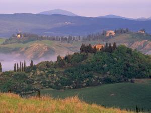 Landscape of the Crete Senesi Area, Southeast of Siena, Near Asciano, Tuscany, Italy, Europe by Patrick Dieudonne