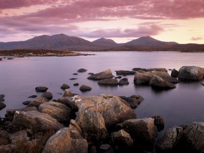 Loch Druidibeg Nature Reserve at Sunset, South Uist, Outer Hebrides, Scotland, UK by Patrick Dieudonne
