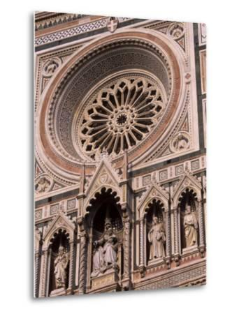 Rose Window and Facade of Polychrome Marble, Duomo Santa Maria Del Fiore, Florence, Tuscany, Italy