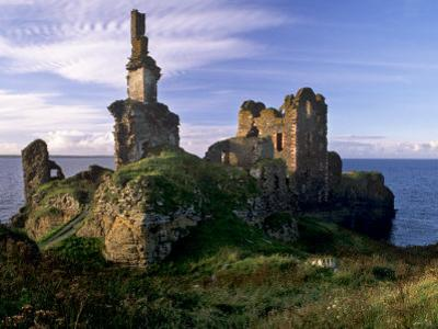 Sinclair Castle Near Wick, Caithness, Scotland, United Kingdom, Europe by Patrick Dieudonne