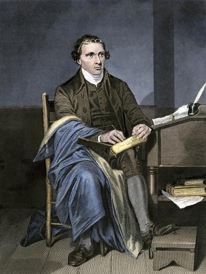 Patrick Henry Writing--Giclee Print