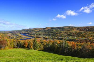 Canada, Nova Scotia, Cape Breton, Cabot Trail, Fall colors in Margaree by Patrick J^ Wall
