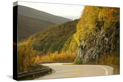 Canada, Nova Scotia, Cape Breton, Cabot Trail, in Fall Color