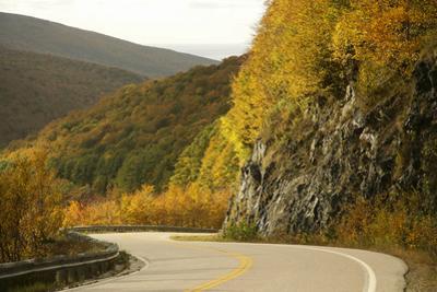 Canada, Nova Scotia, Cape Breton, Cabot Trail, in Fall Color by Patrick J^ Wall