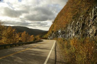 Canada, Nova Scotia, Cape Breton, Cabot Trail in Golden Fall Color by Patrick J^ Wall