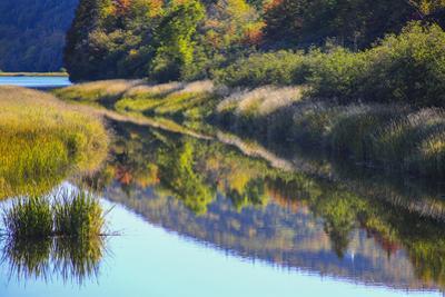 Canada, Nova Scotia, Cape Breton, Cabot Trail, Margaree river reflections by Patrick J^ Wall