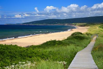 Canada, Nova Scotia, Cape Breton, Inverness Beach Boardwalk by Patrick J^ Wall