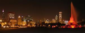 Chicago White Sox  skyline by Patrick  J. Warneka
