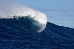 A Side View of a Monster Wave Breaking at Jaws by Patrick McFeeley