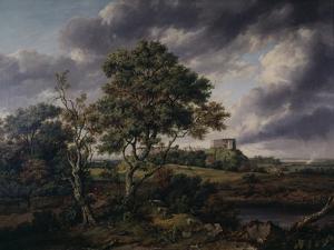 Carisbrooke Castle, Isle of Wight by Patrick Nasmyth