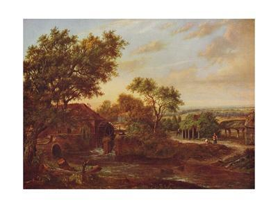 'The Water Mill, Carshalton', 1830, (c1915)