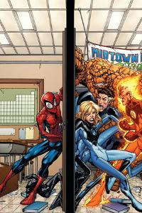 Marvel Adventures Spider-Man No.39 Cover: Spider-Man, Fatastic Four by Patrick Scherberger