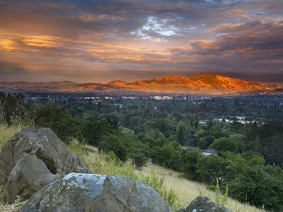 After a Storm Rolled Though the Valley, an Opening in the Clouds Allowed Mt Diablo by Patrick Smith
