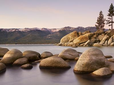 Granite Rocks, Sand Harbor State Park, Lake Tahoe, Nevada, USA by Patrick Smith