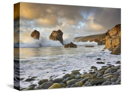 Large Waves Crashing over the Rocky Coast Near Monterey, California, USA