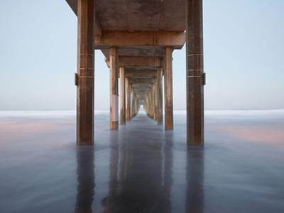 Sunrise View under the Scripps Pier, La Jolla, California, USA by Patrick Smith