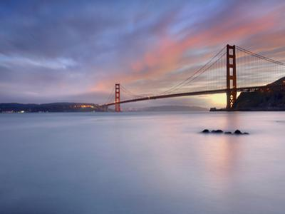 Sunset Behind the Golden Gate Bridge, San Francisco, California, USA by Patrick Smith