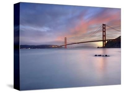 Sunset Behind the Golden Gate Bridge, San Francisco, California, USA