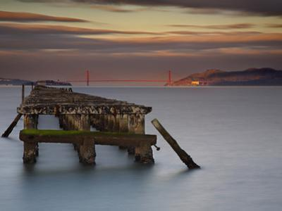 The Old and Weathered Berkeley Pier with Alcatraz Island and the Golden Gate Bridge by Patrick Smith