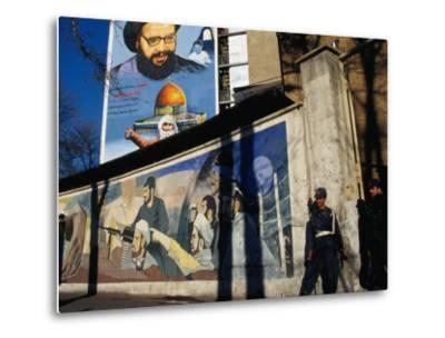 A Mural Depicting Middle Eastern Political Propaganda, Tehran, Iran