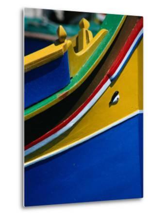 "Colourful ""Luzzu"" Fishing Boat with Eye of Protection, Marsaxlokk, Malta"