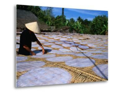 Drying Rice Paper Before Cutting into Noodles, Vietnam